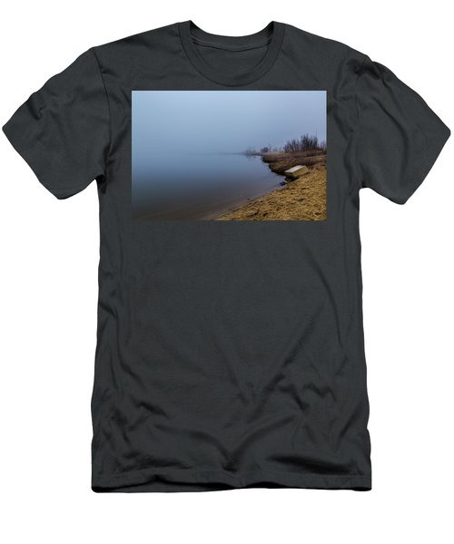 Misty Morning By The Lake Men's T-Shirt (Athletic Fit)