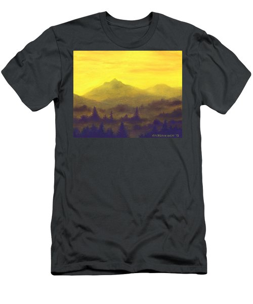 Misty Mountain Gold 01 Men's T-Shirt (Athletic Fit)