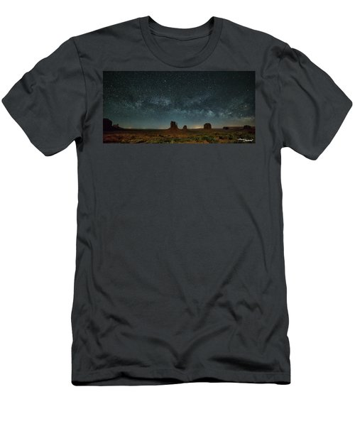 Mittens Milky Way Men's T-Shirt (Athletic Fit)