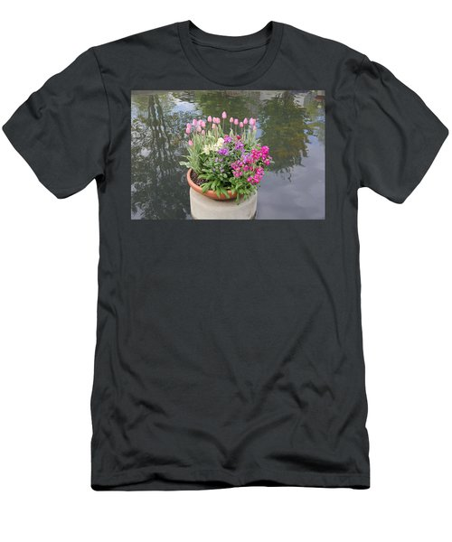 Mixed Flower Planter Men's T-Shirt (Athletic Fit)