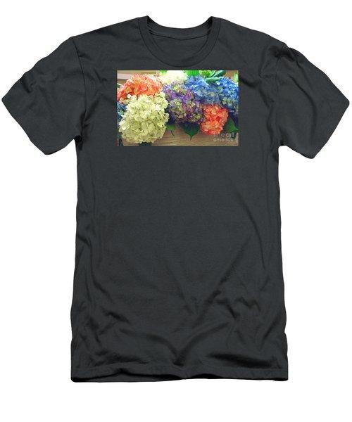 Men's T-Shirt (Slim Fit) featuring the photograph Mixed Hydrangea by Merton Allen