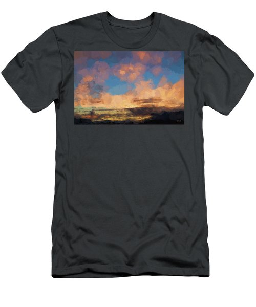 Moab Sunrise Abstract Painterly Men's T-Shirt (Slim Fit) by David Gordon
