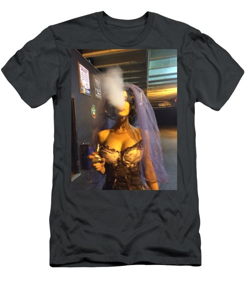Men's T-Shirt (Slim Fit) featuring the photograph Model Vaper by Lisa Piper