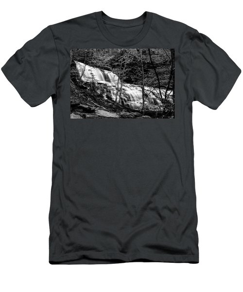 Men's T-Shirt (Slim Fit) featuring the photograph Mohawk Falls - 8617 by G L Sarti
