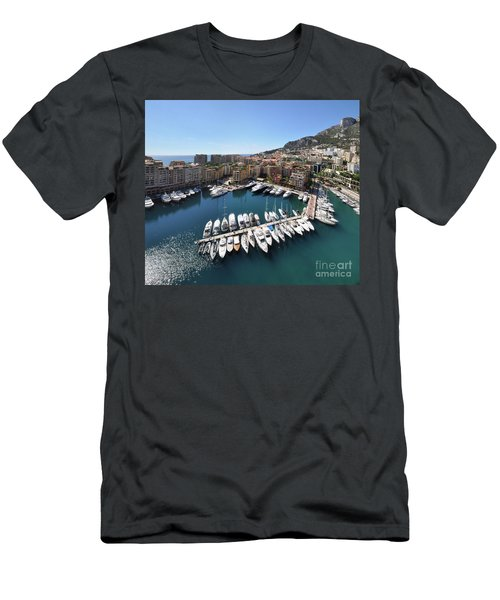 Men's T-Shirt (Slim Fit) featuring the photograph Monaco Port De Fontvieille  by Yhun Suarez
