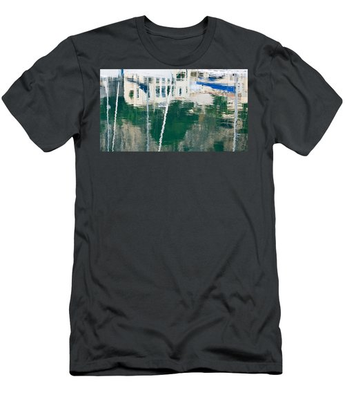 Monaco Reflection Men's T-Shirt (Slim Fit) by Keith Armstrong
