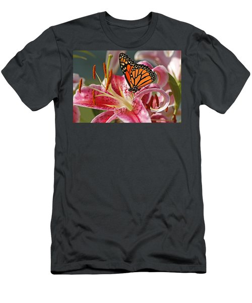 Monarch On A Stargazer Lily Men's T-Shirt (Athletic Fit)