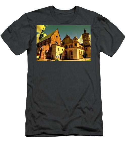 Monastery In The Wachock/poland Men's T-Shirt (Athletic Fit)
