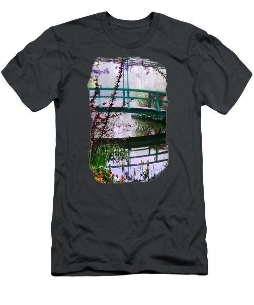 Men's T-Shirt (Slim Fit) featuring the photograph Monet's Bridge by Jim Hill