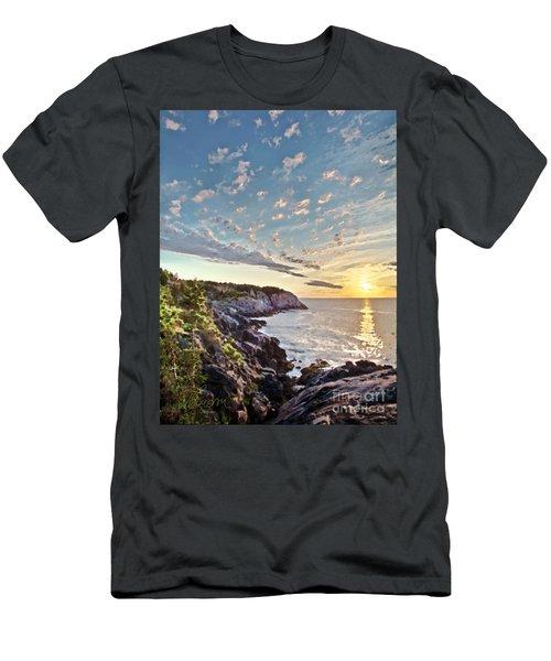 Men's T-Shirt (Slim Fit) featuring the photograph Monhegan East Shore by Tom Cameron
