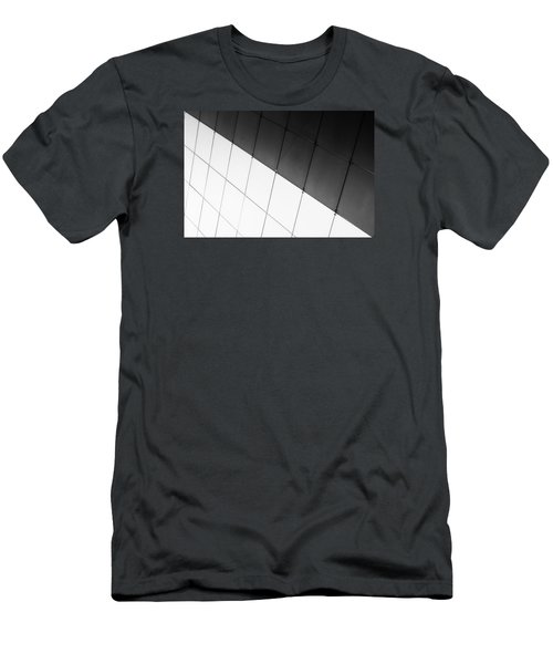 Monochrome Building Abstract 3 Men's T-Shirt (Slim Fit) by John Williams