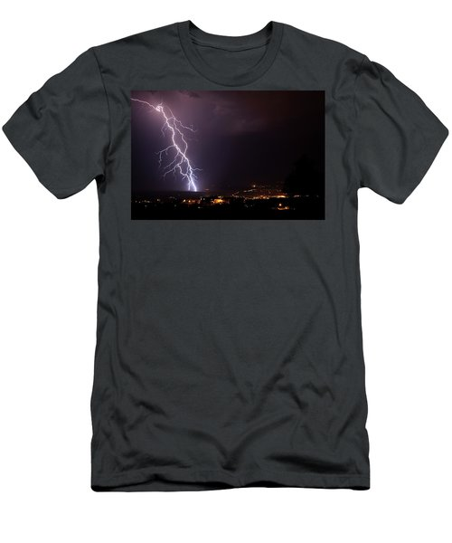 Men's T-Shirt (Slim Fit) featuring the photograph Monsoon Storm by Ron Chilston
