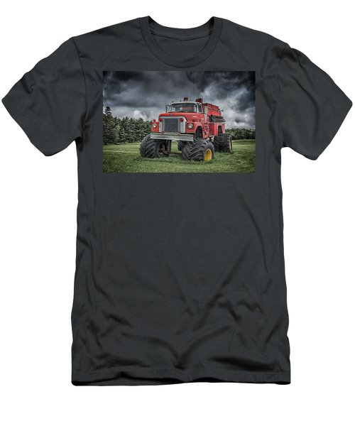 Men's T-Shirt (Athletic Fit) featuring the photograph Monster Fire Truck by Guy Whiteley