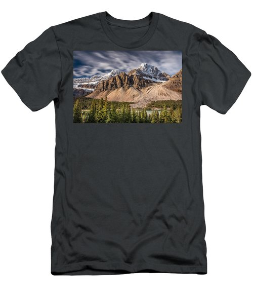 Mont Crowfoot On The Icefield Parkway Men's T-Shirt (Slim Fit) by Pierre Leclerc Photography