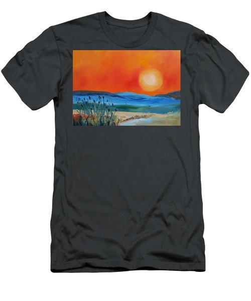 Montana Firery Sunset             49 Men's T-Shirt (Athletic Fit)