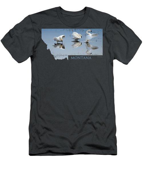 Montana- Swan Ballet Men's T-Shirt (Athletic Fit)