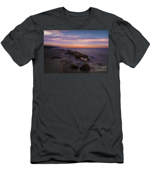 Montauk Sunset Boulders Men's T-Shirt (Athletic Fit)