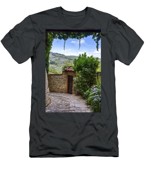 Montefioralle, Tuscany Men's T-Shirt (Athletic Fit)