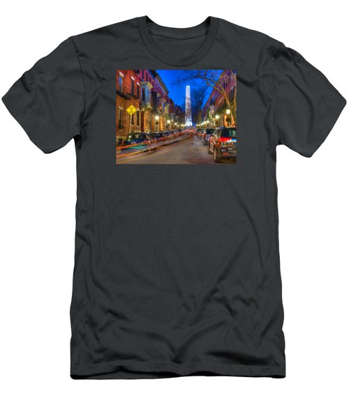 Monument Street Charlestown 023 Men's T-Shirt (Athletic Fit)