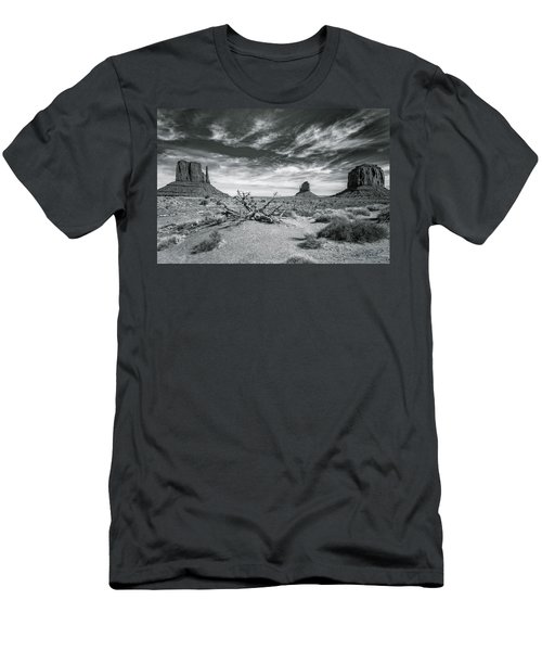 Men's T-Shirt (Athletic Fit) featuring the photograph Monument Valley by Lou Novick