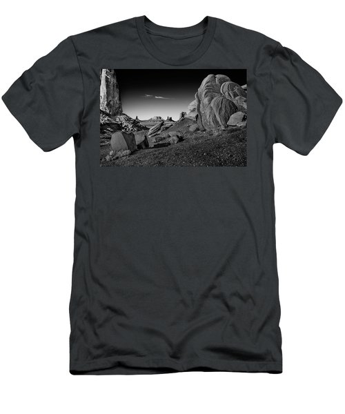 Monument Valley Rock Formations Men's T-Shirt (Slim Fit) by Phil Cardamone