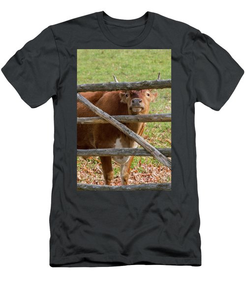 Men's T-Shirt (Slim Fit) featuring the photograph Moo by Bill Wakeley