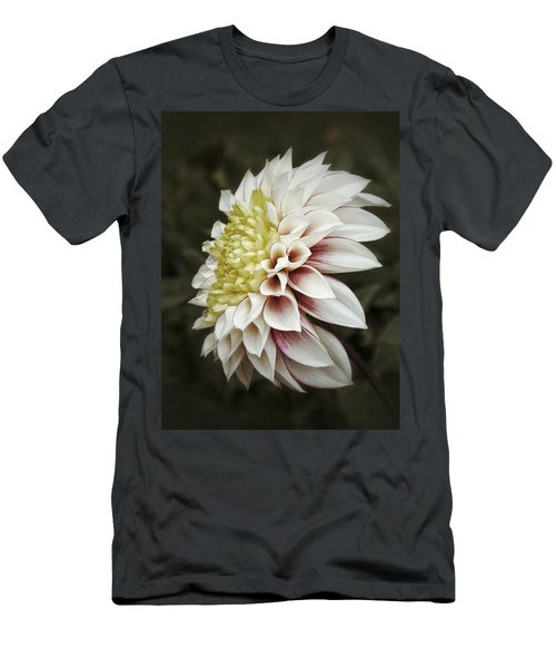 Men's T-Shirt (Slim Fit) featuring the photograph Moody Dahlia  by Karen Stahlros