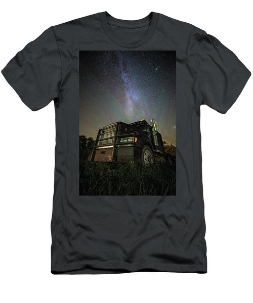 Men's T-Shirt (Athletic Fit) featuring the photograph Moody Trucking by Aaron J Groen