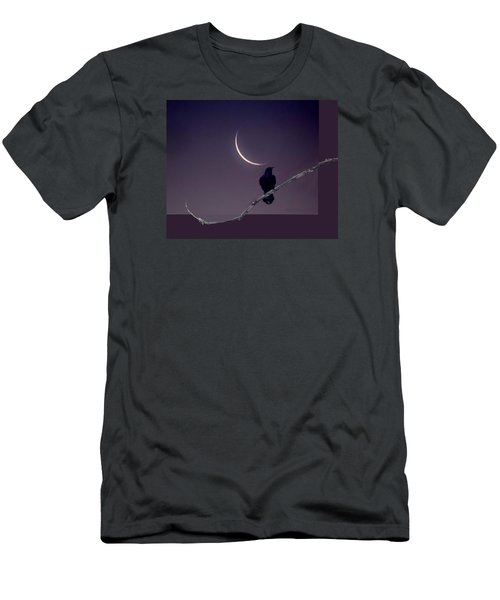 Moon And Raven Abstract Men's T-Shirt (Athletic Fit)