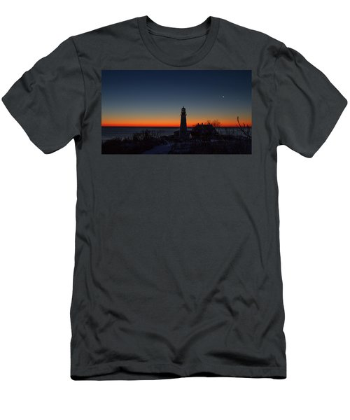 Moon And Venus - Headlight Sunrise Men's T-Shirt (Athletic Fit)