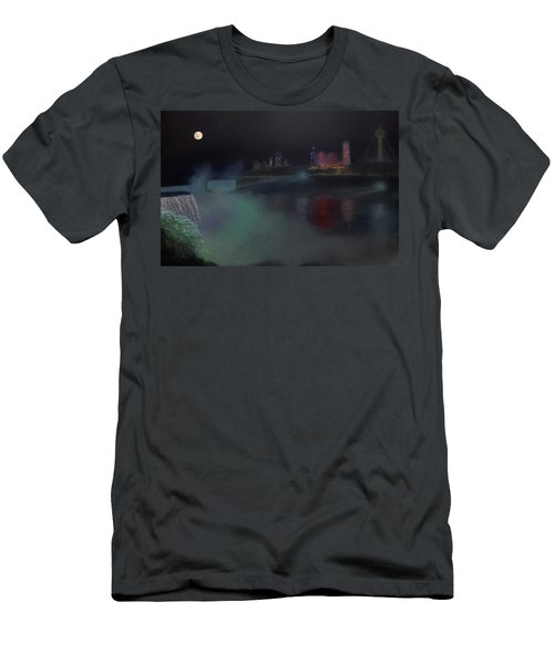 Moon At Niagara  Men's T-Shirt (Athletic Fit)