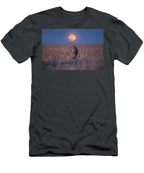 Moon Kitty  Men's T-Shirt (Athletic Fit)
