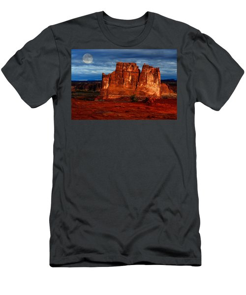 Moon Over La Sal Men's T-Shirt (Athletic Fit)