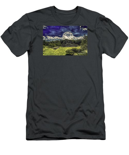 Moon Over Mayan Temple Two Men's T-Shirt (Athletic Fit)