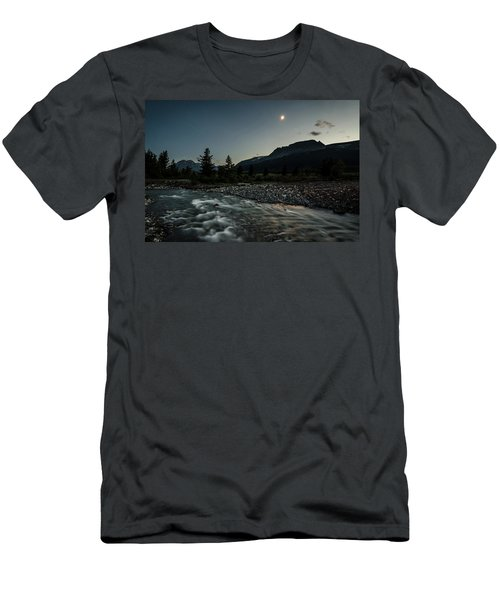 Moon Over Montana Men's T-Shirt (Athletic Fit)