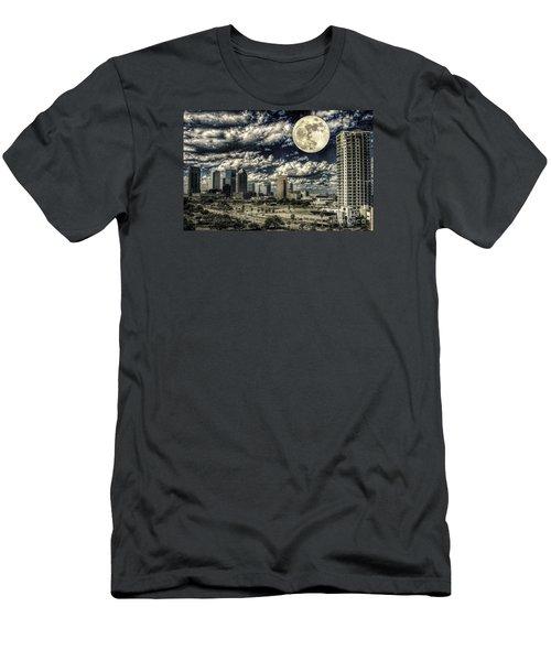 Moon Over Tampa One Men's T-Shirt (Slim Fit) by Ken Frischkorn