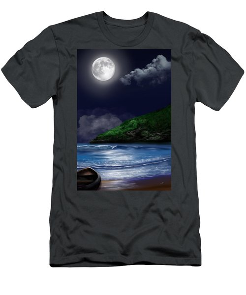 Moon Over The Cove Men's T-Shirt (Athletic Fit)