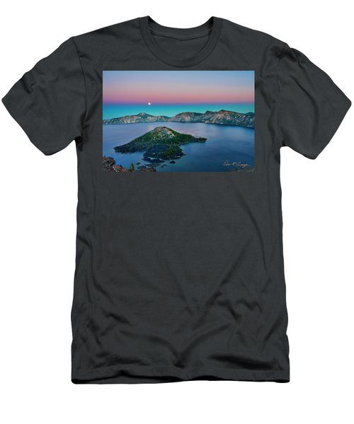Moon Over Wizard Island Men's T-Shirt (Athletic Fit)