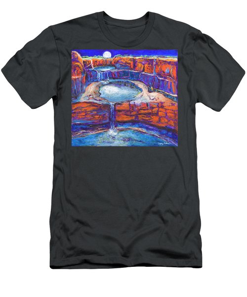 Moon Rising Over The Mitchell Falls Men's T-Shirt (Athletic Fit)