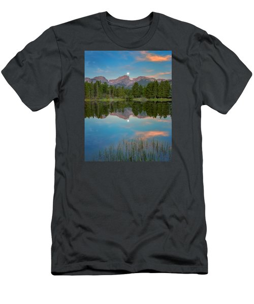 Full Moon Set Over Sprague Lake Men's T-Shirt (Athletic Fit)