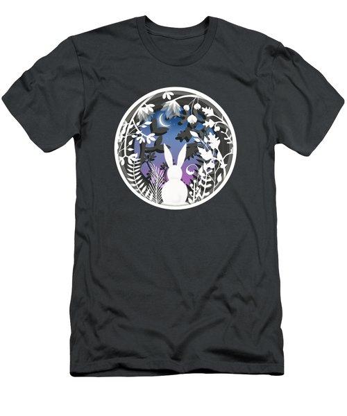 Moonlight Bunny Star Gazer Men's T-Shirt (Athletic Fit)