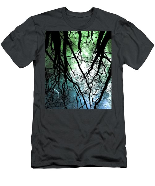 Men's T-Shirt (Athletic Fit) featuring the photograph Moonlight Forest  by Marianna Mills