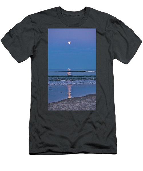 Moonlight Sail 3 - Ogunquit Beach - Maine Men's T-Shirt (Athletic Fit)