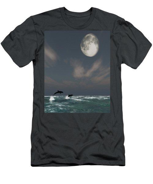 Moonlight Swim Men's T-Shirt (Athletic Fit)