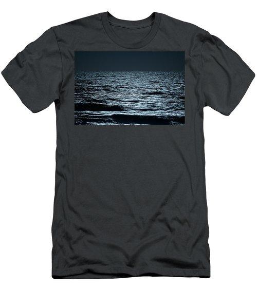 Moonlight Waves Men's T-Shirt (Slim Fit) by Nancy Landry