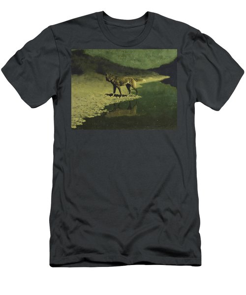 Moonlight, Wolf Men's T-Shirt (Athletic Fit)