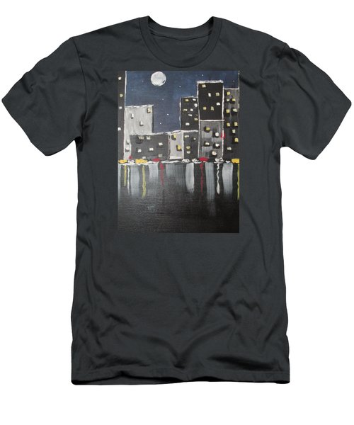 Men's T-Shirt (Slim Fit) featuring the painting Moonlighters by Sharyn Winters