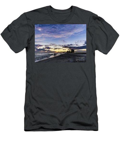 Moonlit Beach Sunset Seascape 0272d Men's T-Shirt (Athletic Fit)