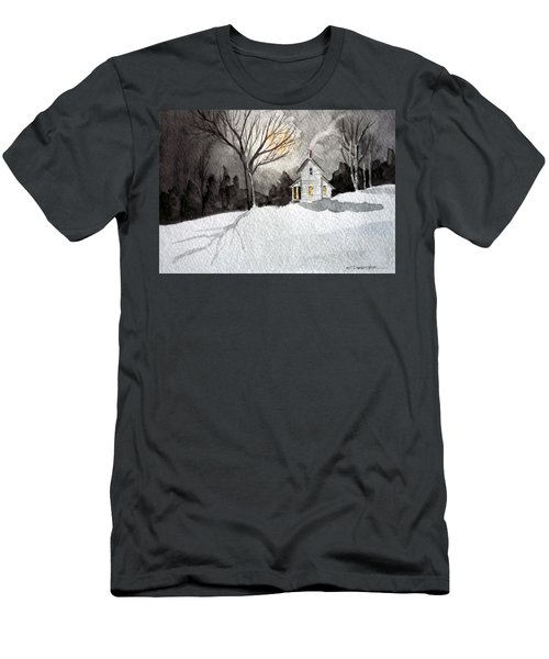 Moonlit Snow Men's T-Shirt (Athletic Fit)