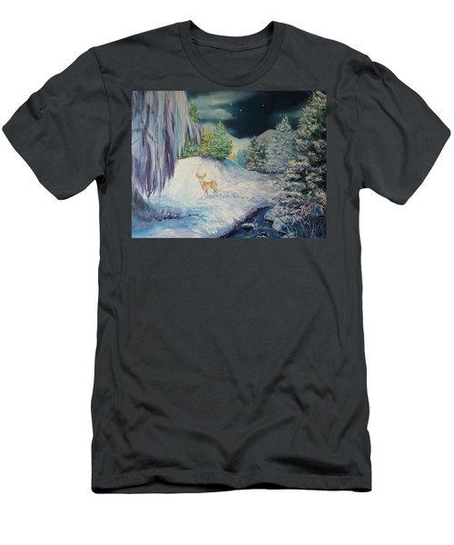 Moonlit Surprise Men's T-Shirt (Athletic Fit)